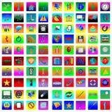 Квадратные иконы 08.12.12 Стоковое Изображение