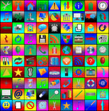 Квадратные иконы 09.12.12 Стоковые Фотографии RF