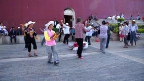 Квадратные танцы в Jianshui видеоматериал