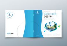 Квадратный дизайн брошюры Шаблон корпоративного бизнеса для брошюры прямоугольника, отчета, каталога, кассеты корпоративно иллюстрация штока