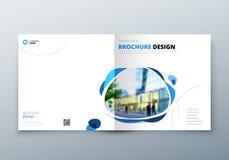 Квадратный дизайн брошюры Шаблон корпоративного бизнеса для брошюры прямоугольника, отчета, каталога, кассеты корпоративно иллюстрация вектора