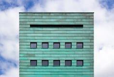 Квадратный фасад с медными прокладками Стоковые Изображения RF