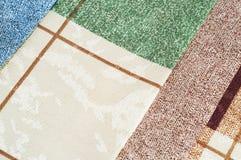 Квадраты и линии предпосылка текстуры ткани Стоковые Фотографии RF