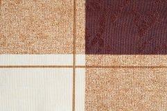 Квадраты и линии предпосылка текстуры ткани Стоковая Фотография