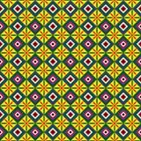 квадраты картины цветков безшовные Стоковые Фотографии RF