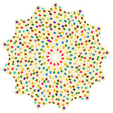 квадраты круга цветастые Стоковая Фотография RF