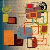 квадраты округленные конспектом Стоковое Фото