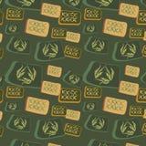 квадраты предпосылки первоначально безшовные Стоковое фото RF