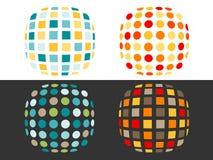 квадраты пятен Стоковые Изображения RF