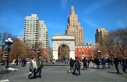 Квадрат Вашингтона в Нью-Йорке Стоковые Изображения