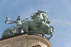 квадрат Венгрии s героя budapest Стоковое Изображение RF