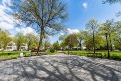 Квадрат Вустера и окружающий исторический район в New Haven Co Стоковое Изображение