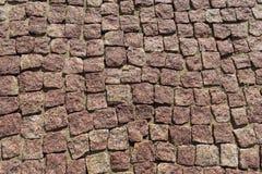 Квадрат выровнялся с булыжником или мостоваой камня, дорожкой или дорогой Стоковое Фото