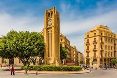 Квадрат городской Бейрут Ливан Nijmeh стоковое фото