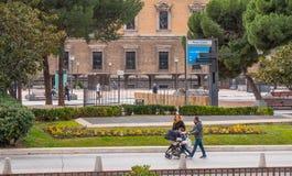 Квадрат двоеточия в Мадриде стоковое изображение