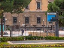 Квадрат двоеточия в Мадриде стоковые фотографии rf