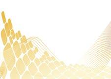 квадрат золота предпосылки Стоковое Фото