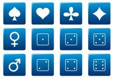 квадрат икон игр установленный бесплатная иллюстрация