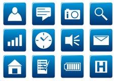 квадрат икон устройства установленный Стоковые Фото