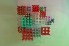 Квадрат или пирамиды стиля молекулы блокировать concepture Для графического дизайна или предпосылки, виртуальное геометрическое 3 бесплатная иллюстрация