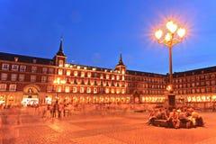 квадрат Испании площади мэра madrid Стоковое Изображение RF