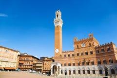 квадрат Италии главным образом siena Стоковые Фото