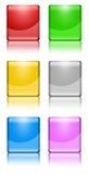 квадрат кнопок Стоковые Изображения