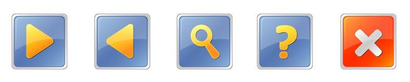 квадрат кнопок Стоковые Фотографии RF