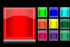 квадрат кнопок Стоковое Фото