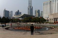 Квадрат людей в Шанхае 1 стоковые изображения rf