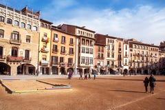 Квадрат майора Placa в Vic, Испании стоковые фото