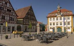 Квадрат Мейна в плохом Bruckenau Германии Стоковое фото RF