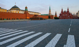 квадрат музея истории красный Стоковое Изображение RF