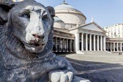 Квадрат Неаполь Италия Plebiscito стоковая фотография rf