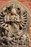 квадрат Непала божества bhaktapur durbar индусский стоковые фото