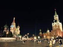 квадрат ночи красный стоковое изображение