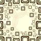 квадрат окружностей предпосылки бежевый Стоковые Фото