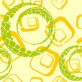 квадрат окружностей предпосылки Иллюстрация вектора