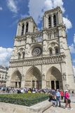 Квадрат перед собором Нотр-Дам Стоковое Фото