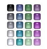 квадрат перл кнопок Стоковые Изображения