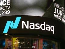 Квадрат положения NASDAQ MarketSite временами Это commerci стоковое фото