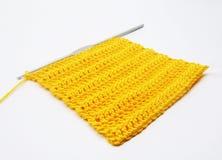 Квадрат померанца вязания крючком Стоковое Фото