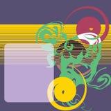 квадрат предпосылки выровнянный grunge Стоковая Фотография RF