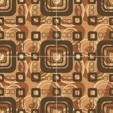квадрат предпосылки коричневый Иллюстрация вектора