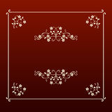 квадрат рамки ecru конструкции шикарный Стоковое Изображение