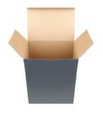 квадрат раскрытый коробкой стоковая фотография rf