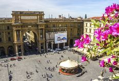 Квадрат республики в Флоренсе Стоковые Изображения RF