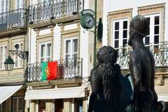 Квадрат республики в Viana do Castelo Стоковое Изображение