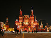 квадрат России ночи moscow красный Стоковые Изображения
