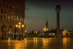 Квадрат Сан Marco на восходе солнца в Венеции, Италии Стоковые Изображения